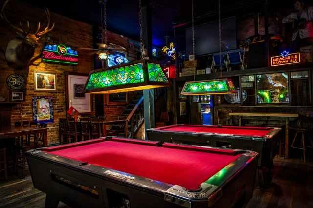 A bar sits empty